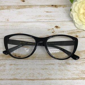 Betsey Johnson Black Cat Eye Reading Glasses 1.50
